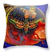Solar Ocean Throw Pillow by Joseph Mosley