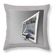 Somewhere It Is Raining Throw Pillow