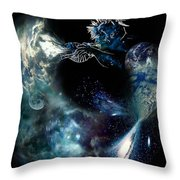 Song Of The Universe Throw Pillow