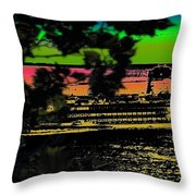 Soundside Treehouse View Throw Pillow