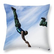 South African Street Acrobats  Throw Pillow