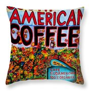 South American Coffee Throw Pillow