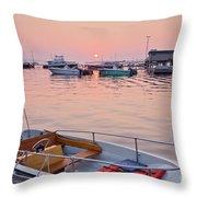Southwest Harbor Sunrise Throw Pillow