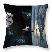 Space Rescue Throw Pillow