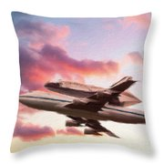 Space Shuttle Discovery Flies Off Into Retirement Throw Pillow