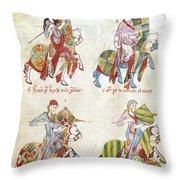 Spain: Knights, C1350 Throw Pillow