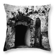 Spanish Fort Doorway Throw Pillow