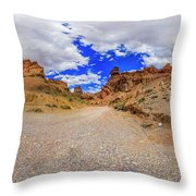 Spherical Panorama From A Canyon Charyn Throw Pillow