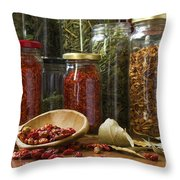 Spicy Still Life Throw Pillow by Carlos Caetano