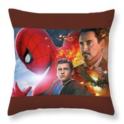 Spider-man Homecoming Throw Pillow