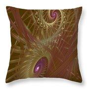 Spiral Maze  Throw Pillow