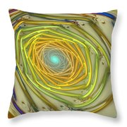 Spiral Rainbow Throw Pillow