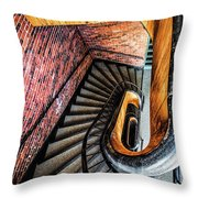 Spiral Stairwell Throw Pillow