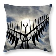 Spirit Catcher Against The Sky  Throw Pillow