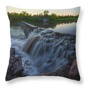 Split Rock Sunset Panorama Throw Pillow