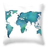Spray Paint Map Throw Pillow