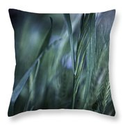 Spring Grass Emerging Throw Pillow