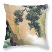 Spring Of Mountain Throw Pillow