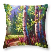 Spring Path Throw Pillow
