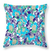 Spring Summer Flowers In Vintage Style. Seasons Floral Pattern Throw Pillow