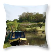 Springtime By The Canal Throw Pillow