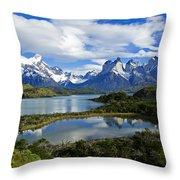 Springtime In Patagonia Throw Pillow
