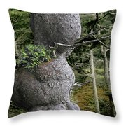 Spruce Burl Olympic National Park Beach 1 Wa Throw Pillow by Christine Till
