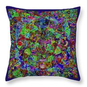 Squareousel Throw Pillow