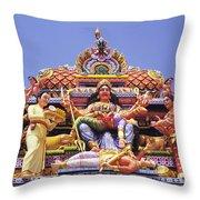 Sri Krishnan Temple Throw Pillow