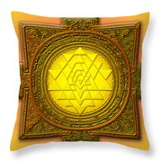 Sri Yantra Throw Pillow by Lila Shravani