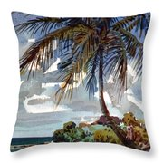 St. Croix Beach Throw Pillow