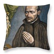 St. Ignatius Of Loyola Throw Pillow