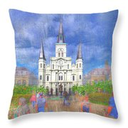 St Louis Cathedral  Throw Pillow