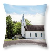 St. Margaret Catholic Church - Springfield Louisiana Throw Pillow