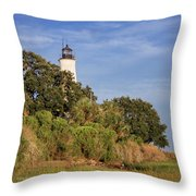 St. Mark's Lighthouse 28 Throw Pillow