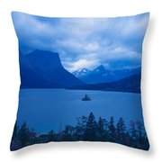 St. Mary Lake, Glacier National Park Throw Pillow
