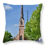 St. Matthew's German Evangelical Lutheran Church Throw Pillow
