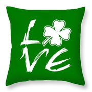 St. Patrick's Day - Love Throw Pillow