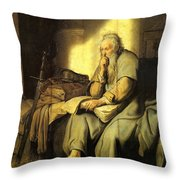 St. Paul In Prison Throw Pillow