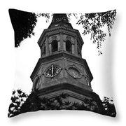 St. Philips Church Steeple Throw Pillow