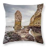 Stack And Chalk Cliff Throw Pillow