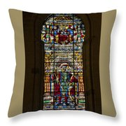 Stained Glass - Cathedral Of Seville - Seville Spain Throw Pillow