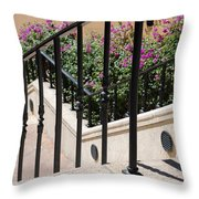 Stairs And Rails Throw Pillow