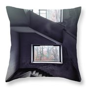 Stairs And Windows Throw Pillow