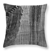 Stairway To No Were - Lime Stone Quarry Lithica In Minorca Throw Pillow