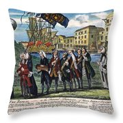 Stamp Act: Repeal, 1766 Throw Pillow