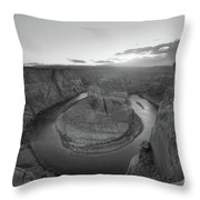 Standing On The Edge Of Horseshoe Bend Throw Pillow by Michael Ver Sprill