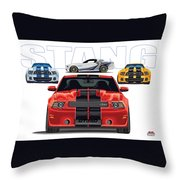 Stang 2 Throw Pillow