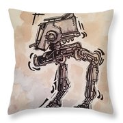 Star Wars At-st Throw Pillow