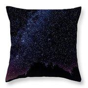 Stars Over Black Oak Lake 1 Throw Pillow